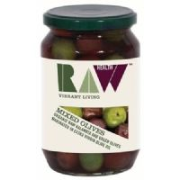 Raw Health Organic Mixed Green & Kalamata Olives 300g